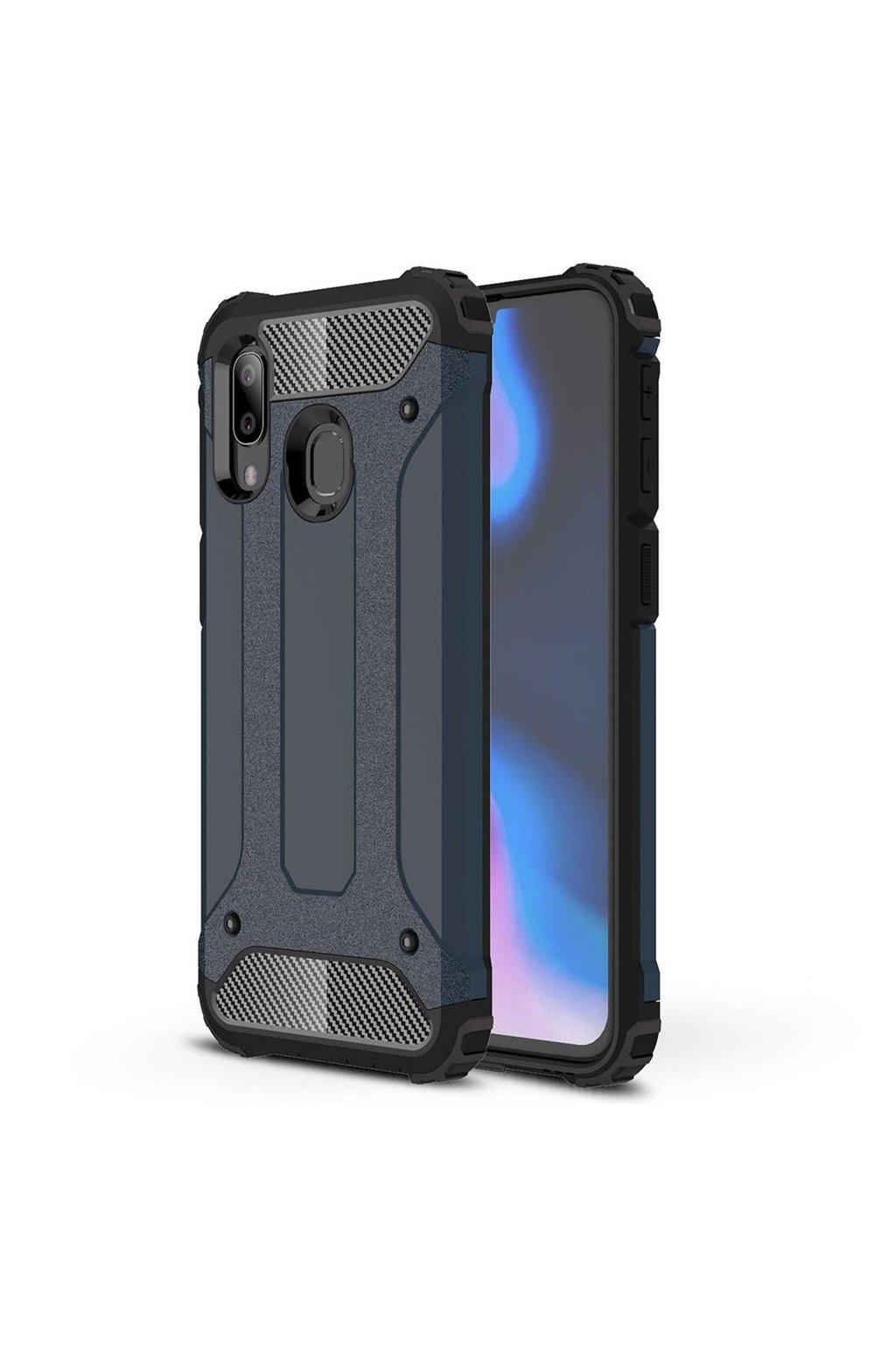 eng pl Hybrid Armor Case Tough Rugged Cover for Samsung Galaxy A40 blue 50375 1