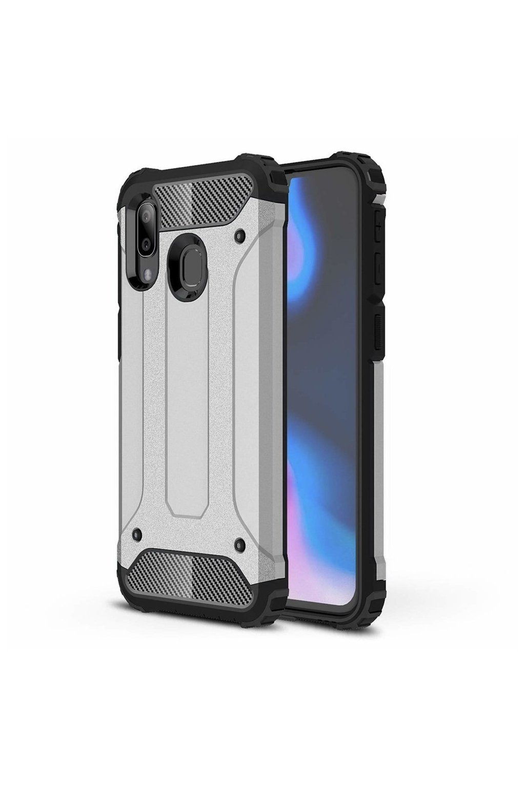 eng pl Hybrid Armor Case Tough Rugged Cover for Samsung Galaxy A40 silver 50376 6