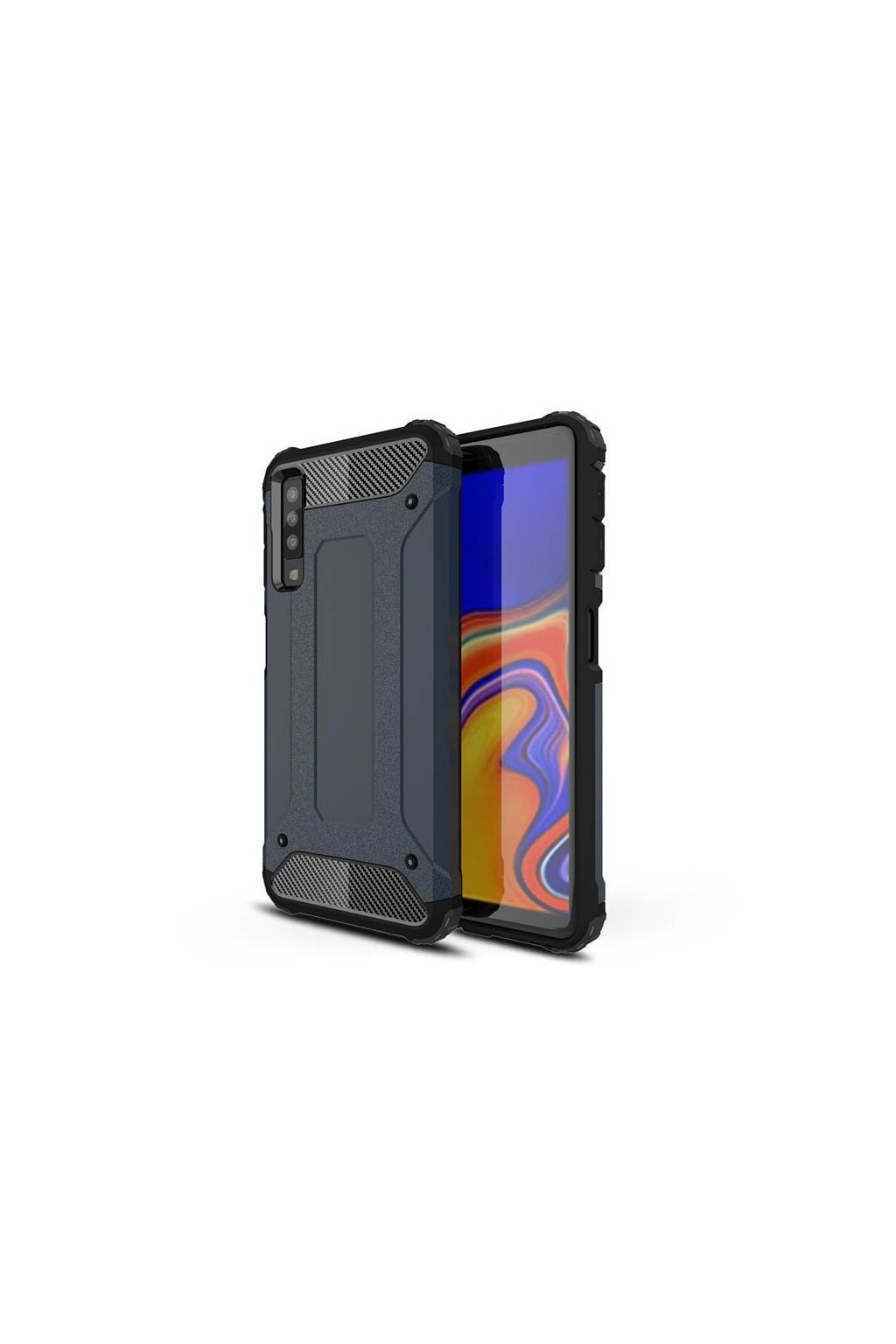 eng pl Hybrid Armor Case Tough Rugged Cover for Samsung Galaxy A7 2018 A750 blue 45728 1
