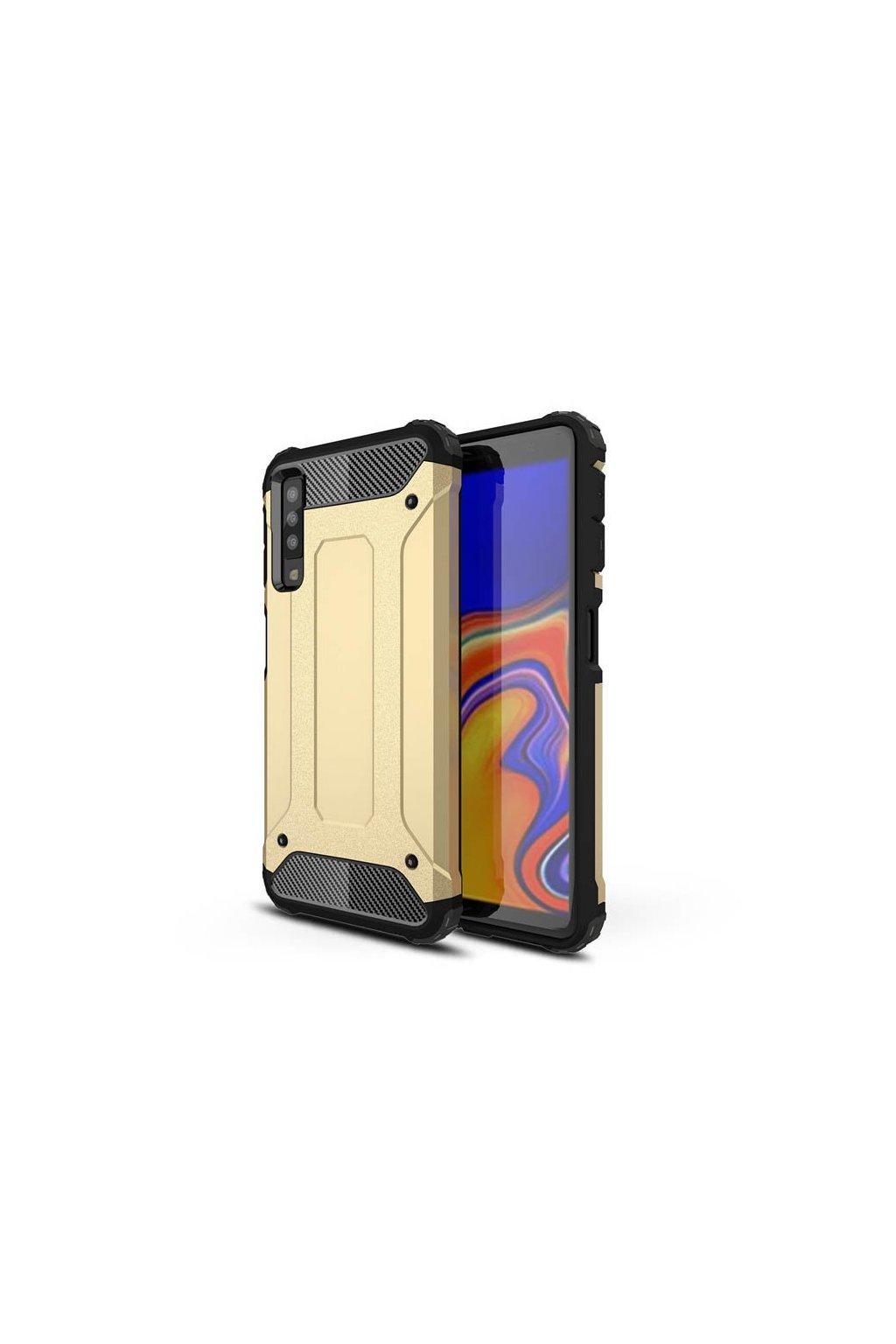 eng pl Hybrid Armor Case Tough Rugged Cover for Samsung Galaxy A7 2018 A750 golden 45730 1
