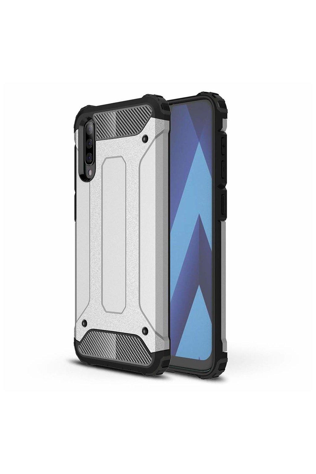 eng pl Hybrid Armor Case Tough Rugged Cover for Samsung Galaxy A70 silver 50380 1
