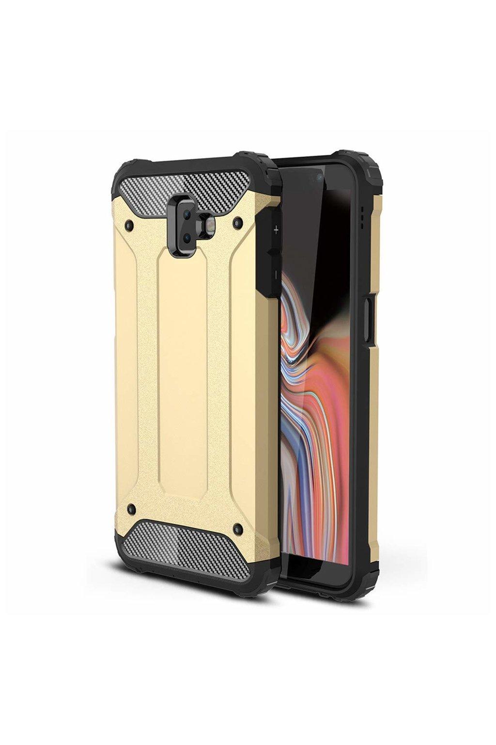 eng pl Hybrid Armor Case Tough Rugged Cover for Samsung Galaxy J6 Plus 2018 J610 golden 45443 1
