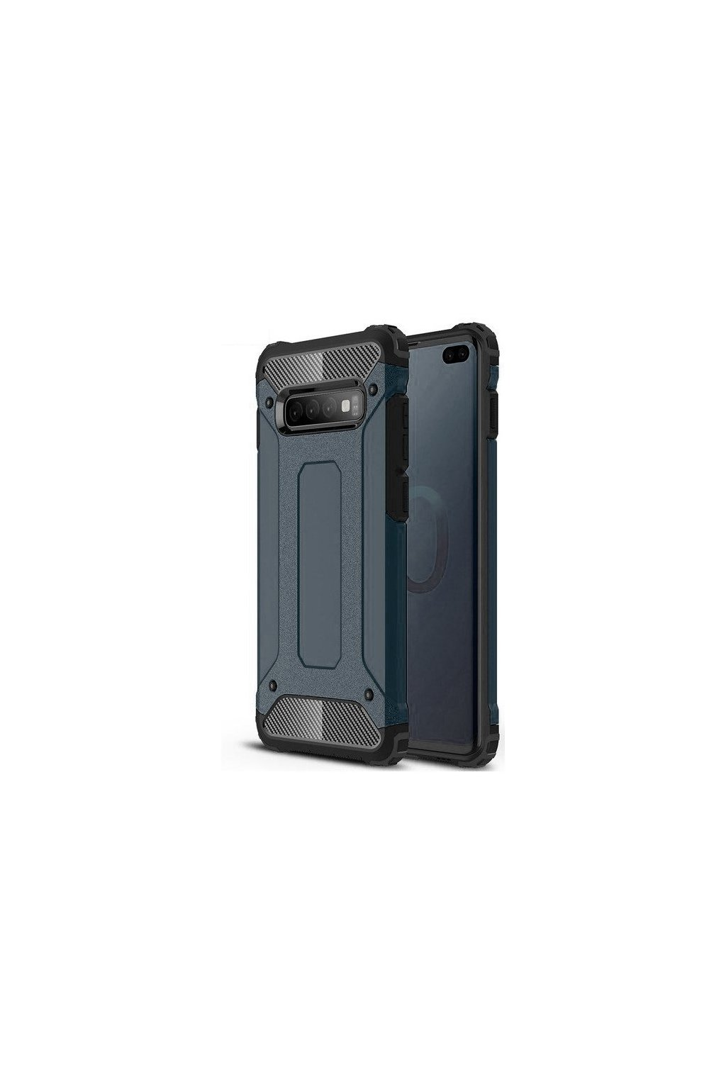 eng pl Hybrid Armor Case Tough Rugged Cover for Samsung Galaxy S10 Plus blue 46581 1
