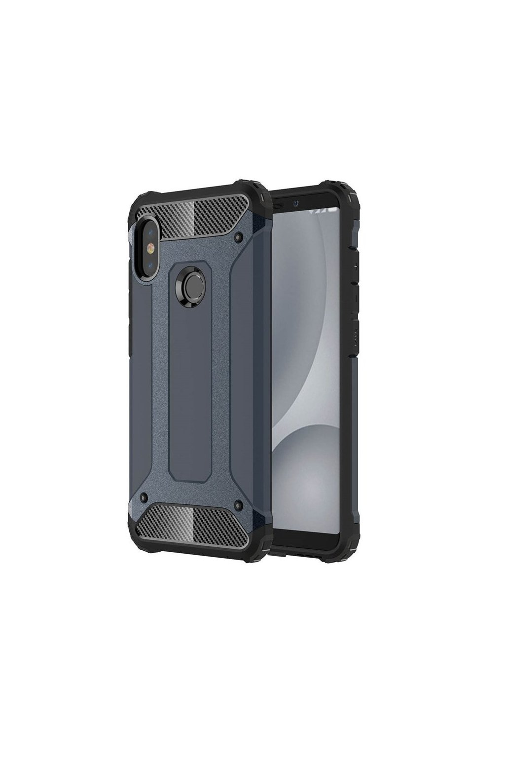 eng pl Hybrid Armor Case Tough Rugged Cover for Xiaomi Mi A2 Lite Redmi 6 Pro blue 45736 1
