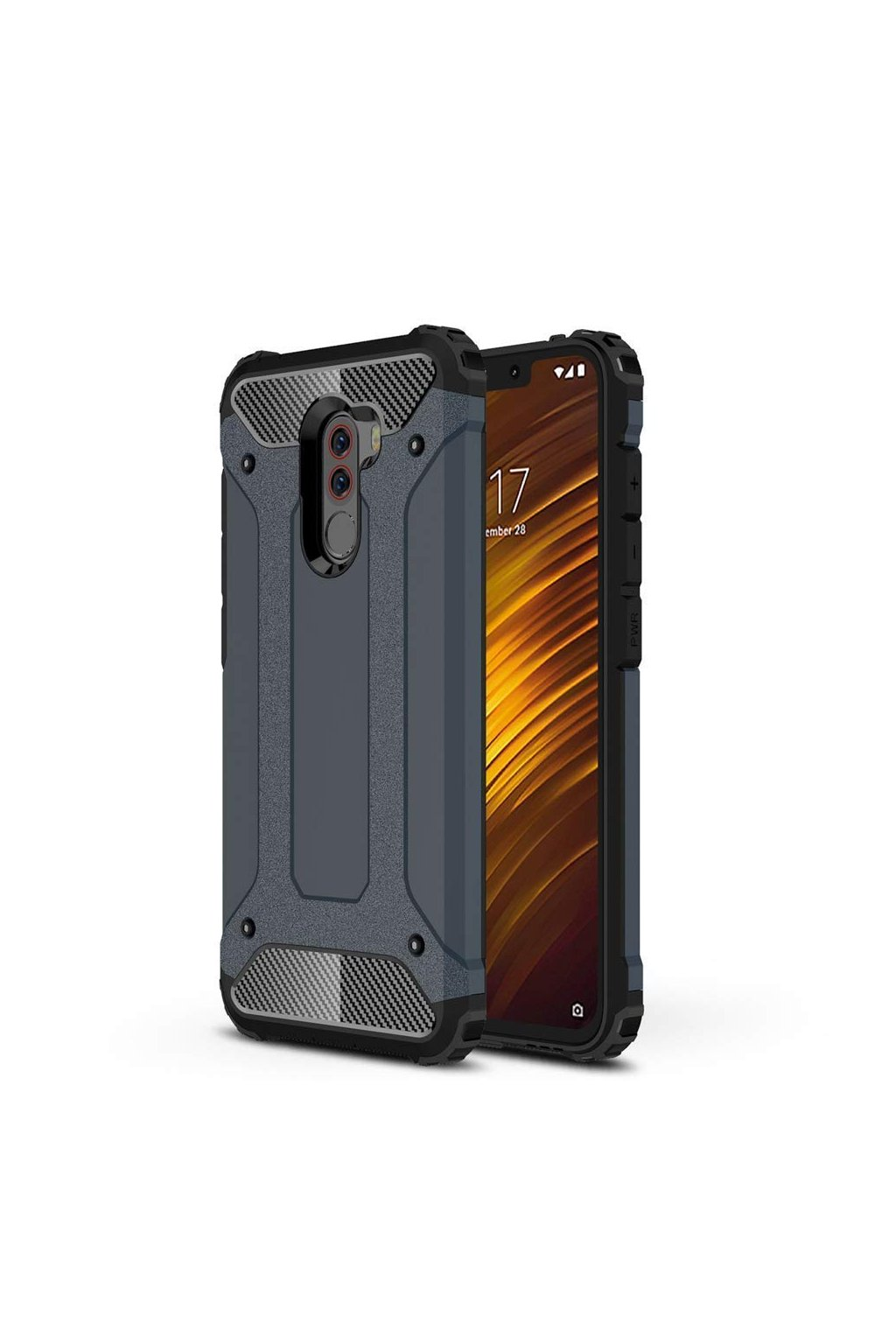 eng pl Hybrid Armor Case Tough Rugged Cover for Xiaomi Pocophone F1 blue 46249 1