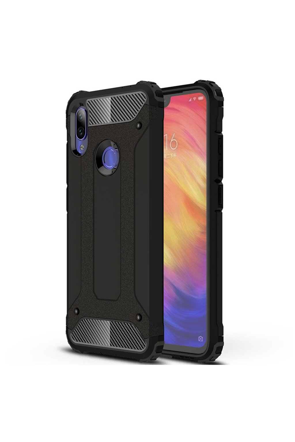 eng pl Hybrid Armor Case Tough Rugged Cover for Xiaomi Redmi Note 7 black 48124 1