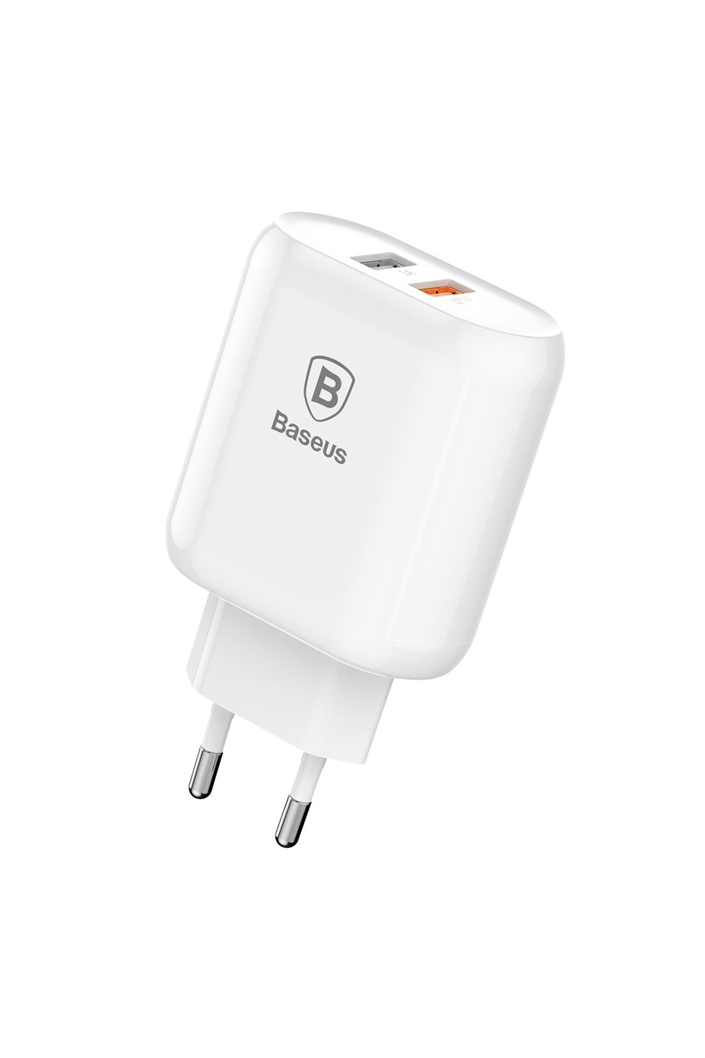 eng pl Baseus Bojure Series Travel Charger Adapter Wall Charger 2x USB 1A Quick Charge 3 0 QC 3 0 23W white CCALL AG02 40771 1