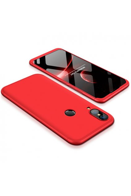 360 osbousranný kryt na huawei p20 lite červený