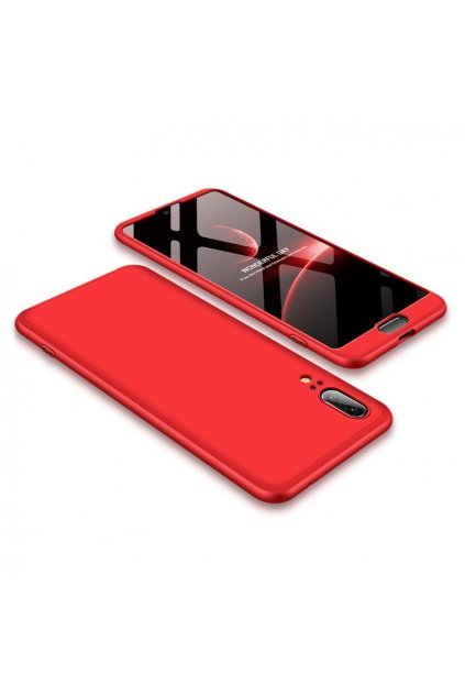 eng pl 360 Protection Front and Back Case Full Body Cover Huawei P20 red 39570 1