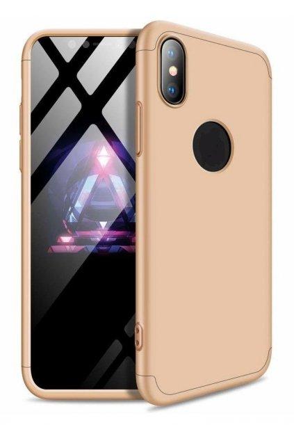 360 obojstranný kryt na Huawei Y6 2018 / Honor 7a - zlatý