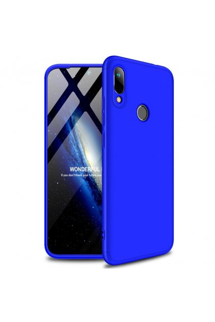eng pl GKK 360 Protection Case Front and Back Case Full Body Cover Huawei Y6 2019 blue 50066 1