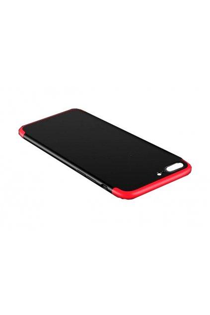 12726 6 360 oboustranny kryt na iphone 7 iphone 8 cervenocerny bez vyrezu na logo