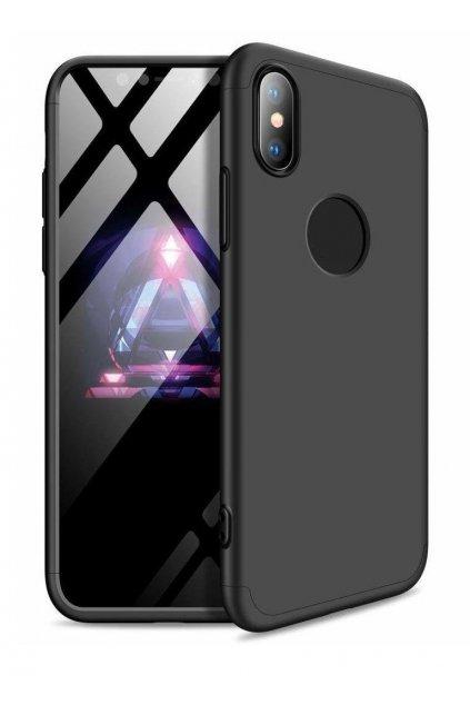 360 obojstranný kryt na iPhone XR - čierny
