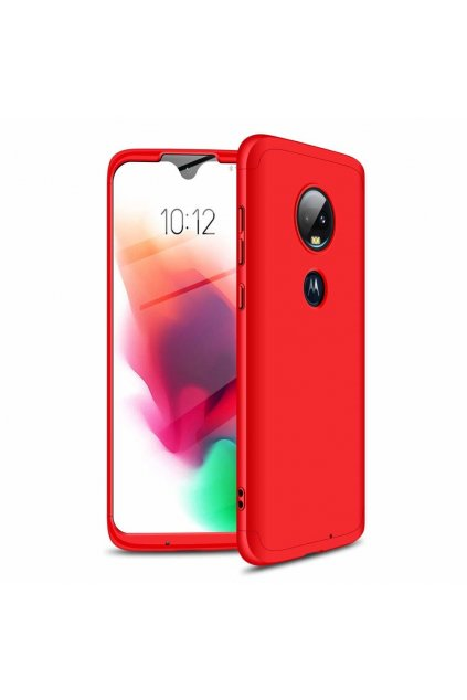 eng pl GKK 360 Protection Case Front and Back Case Full Body Cover Motorola Moto G7 red 46551 1