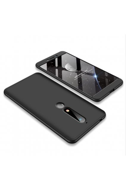 oboustranný kryt 360 na Nokia 6.1 černý tit
