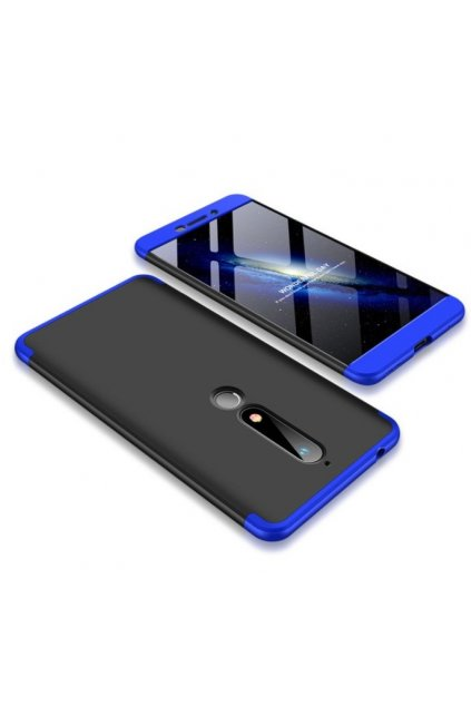 oboustranný kryt 360 na Nokia 6.1 modročerný tit