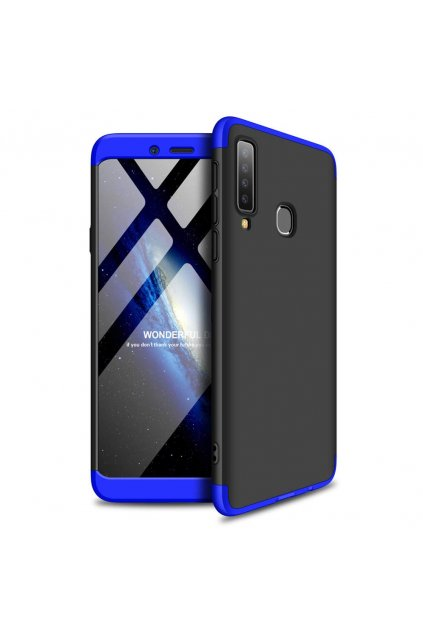 eng pl 360 Protection Front and Back Case Full Body Cover Samsung Galaxy A9 2018 A920 black blue 47431 1