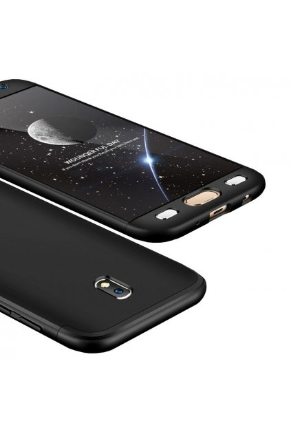 360 obojstranný kryt na Samsung Galaxy J7 2017 - čierny