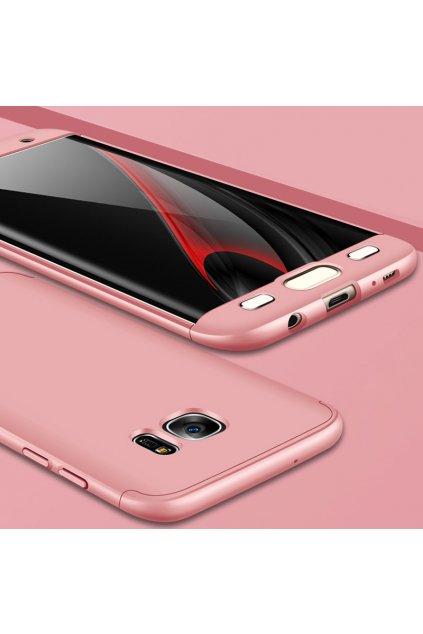 360 oboustranný kryt na Samsung Galaxy S7 Edge růžový