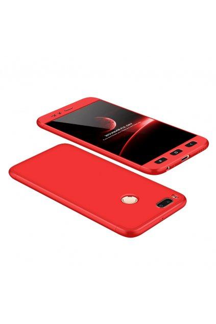 360 oboustranný kryt na Xiaomi Mi A1, Mi 5X červený 1