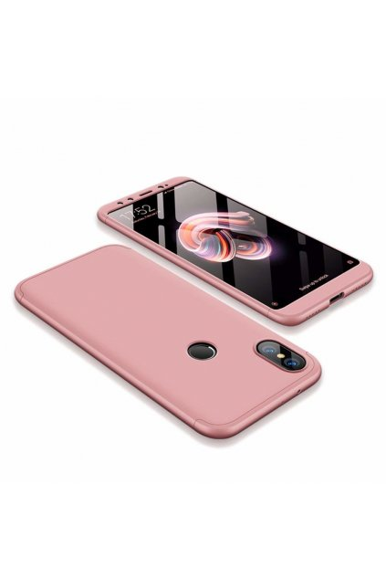 eng pl 360 Protection Front and Back Case Full Body Cover Xiaomi Mi A2 Mi 6X pink 45191 5