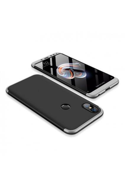 360 oboustranný kryt na Xiaomi redi Note 5 stříbrno černý