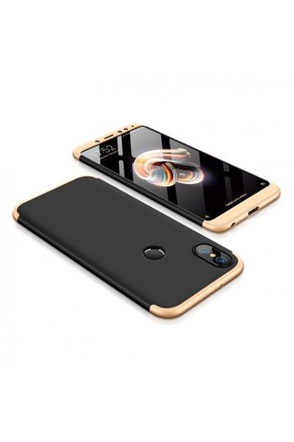 360 oboustranný kryt na Xiaomi redi Note 5 zlato černý