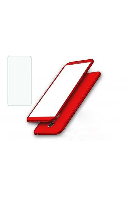 14034 6 360 oboustranny kryt s tvrzenym sklem na xiaomi redmi 5 plus cerveny