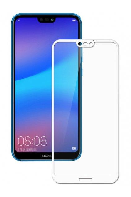 3D Tvrzené sklo na Huawei P20 lite bílé