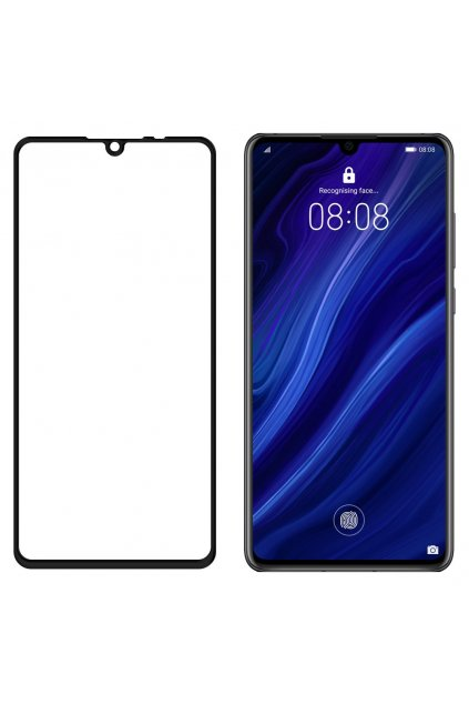 eng pl Wozinsky Tempered Glass Full Glue Super Tough Screen Protector Full Coveraged with Frame Case Friendly for Huawei P30 black 47063 2