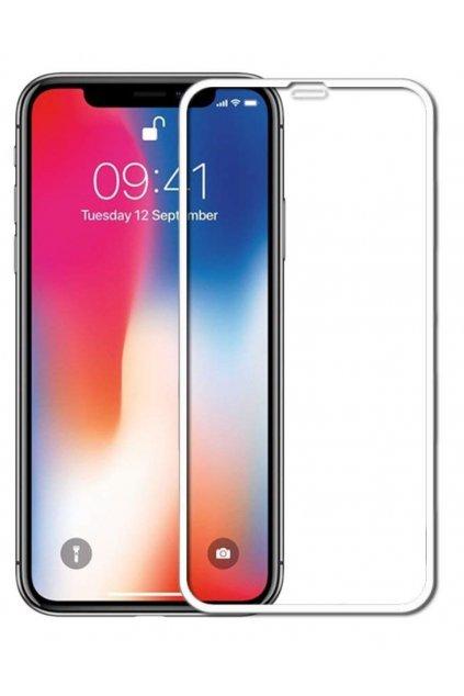 17573 3d full glue tvrzene sklo na iphone xs max bile