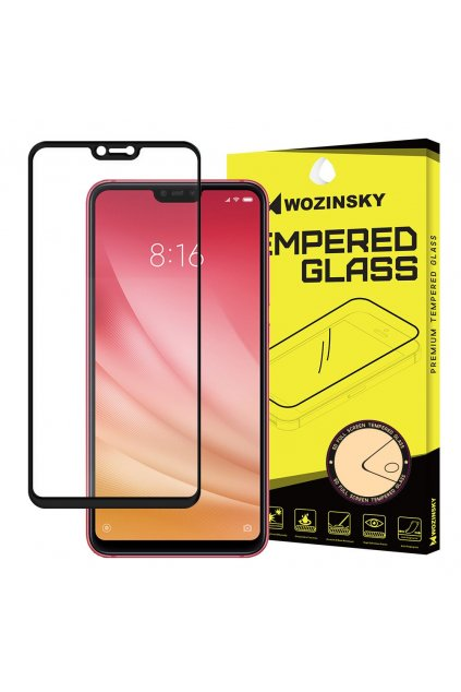 eng pl Wozinsky Tempered Glass Full Glue Super Tough Screen Protector Full Coveraged with Frame Case Friendly for Xiaomi Mi 8 Lite black 44980 1