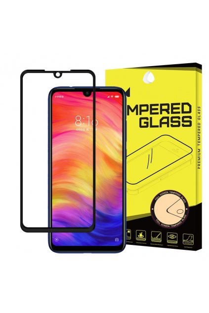 eng pl Wozinsky Tempered Glass Full Glue Super Tough Screen Protector Full Coveraged with Frame Case Friendly for Xiaomi Redmi Note 7 black 47067 1