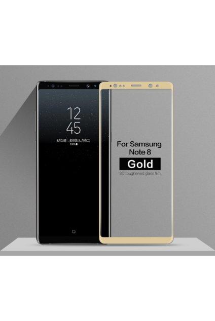 3d tvrzené sklo na samsung note 8 zlaté