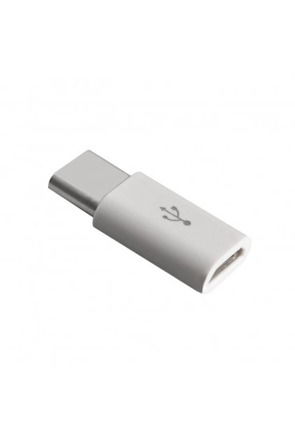 eng pl Micro USB to USB Type C Adapter Data Sync Charge white 21314 8