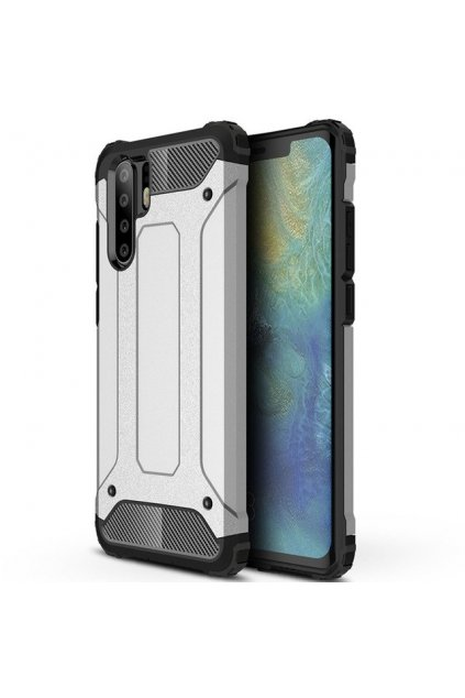 eng pl Hybrid Armor Case Tough Rugged Cover for Huawei P30 Pro silver 46571 1