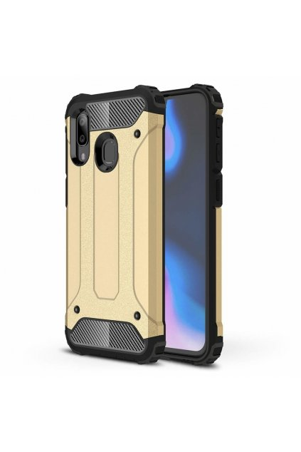eng pl Hybrid Armor Case Tough Rugged Cover for Samsung Galaxy A40 golden 50377 1