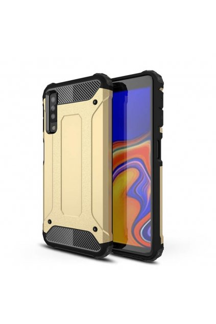 eng pl Hybrid Armor Case Tough Rugged Cover for Samsung Galaxy A7 2018 A750 golden 45730 1
