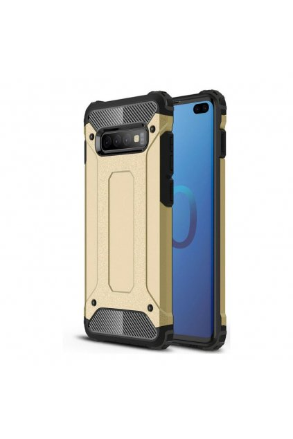 eng pl Hybrid Armor Case Tough Rugged Cover for Samsung Galaxy S10 Plus golden 46582 1