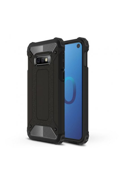 eng pl Hybrid Armor Case Tough Rugged Cover for Samsung Galaxy S10 Lite black 46576 1