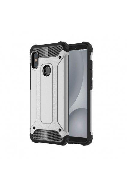 eng pl Hybrid Armor Case Tough Rugged Cover for Xiaomi Mi A2 Lite Redmi 6 Pro silver 45737 1