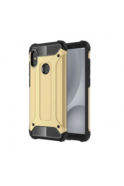 eng pl Hybrid Armor Case Tough Rugged Cover for Xiaomi Mi A2 Lite Redmi 6 Pro golden 45738 1