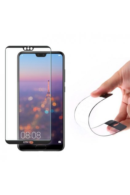 eng pl Wozinsky Full Cover Flexi Nano Glass Hybrid Screen Protector with frame for Huawei P20 black 39590 14