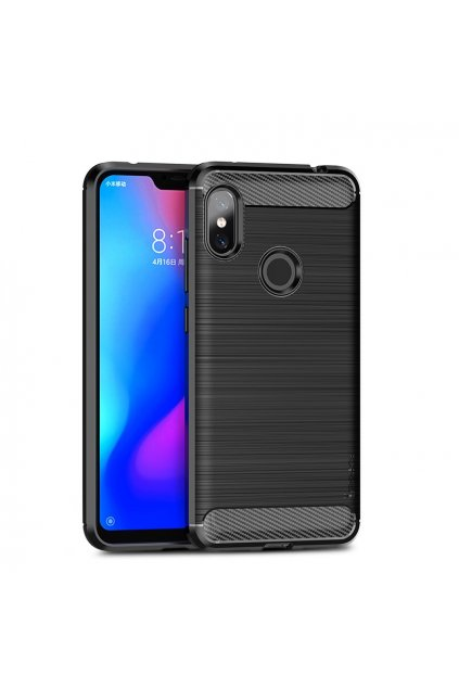 eng pl iPaky Slim Carbon Flexible Cover TPU Case for Xiaomi Redmi Note 6 Pro black 46855 1