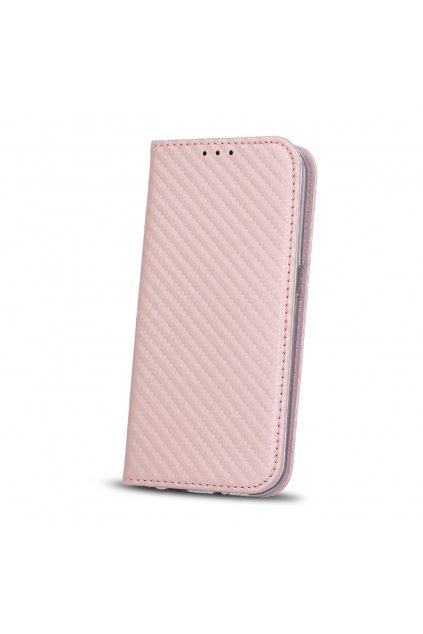 Flipové karbonové pouzdro na Sony L1 růžovéjpg