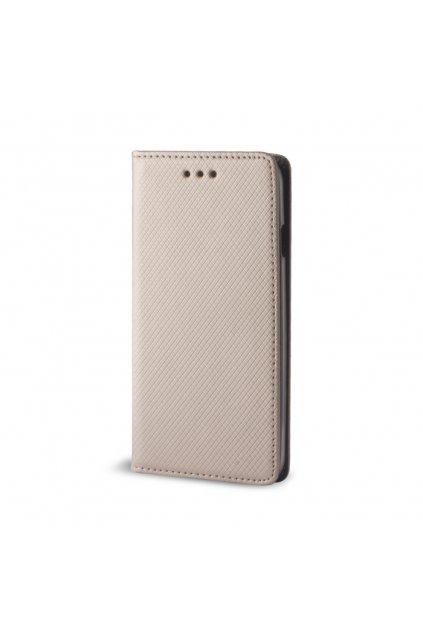 Flipové magnetické pouzdro na Huawei P9 Lite Mini zlaté