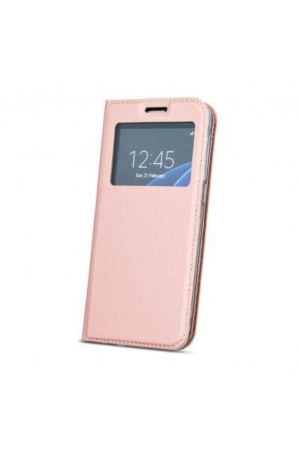 flipové pouzdro s okénkem na Huawei Mate 10 Lite růžové