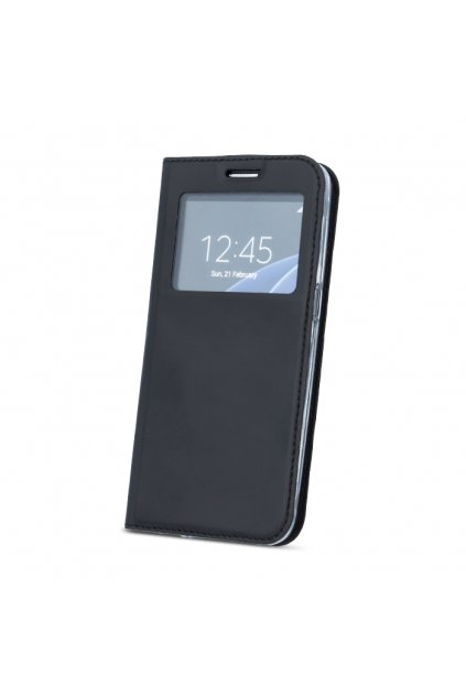 Magnetické flipové pouzdro s okénkem na Huawei p9 lite mini černé