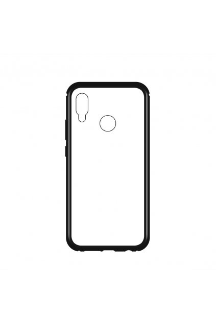 eng pl Wozinsky Magnetic Case Full Body Front and Back Cover for Huawei P20 Lite black transparent 47330 2