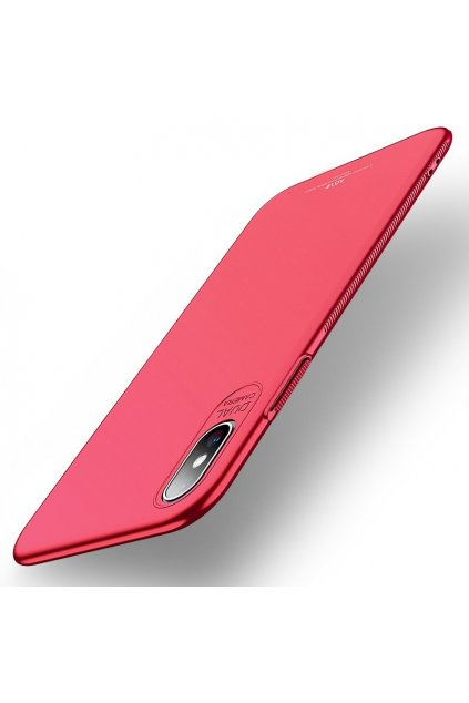eng pl MSVII Simple Ultra Thin Cover PC Case for iPhone XS Max red 44987 1